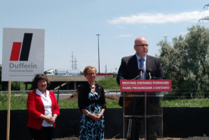 Minister of Transportation Steven Del Duca announcing expanding Highway 401