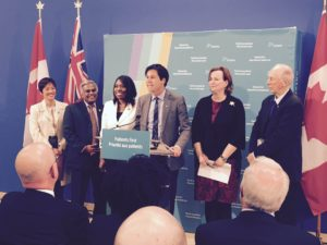 Dr. Eric Hoskins - Minister of Health and Long-Term Care (and others) annoucing the health care plan