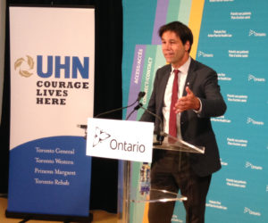 Dr. Eric Hoskins - Minister of Health and Long-Term Care announcing that Ontario is supporting the expansion of St. Michael's Hospital