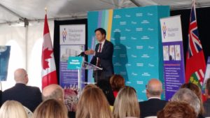 Hon. Dr. Eric Hoskins - Minister of Health and Long-Term Care announcing the next phase of the New Mackenzie Vaughan Hospital Project