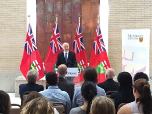 Minister of Training, Colleges and Universities Reza Moridi Announcing funding to support students with disabilities