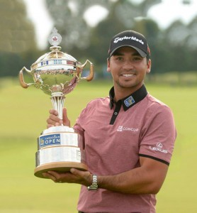 Jason Day with the RBC Canadian Open Trophy